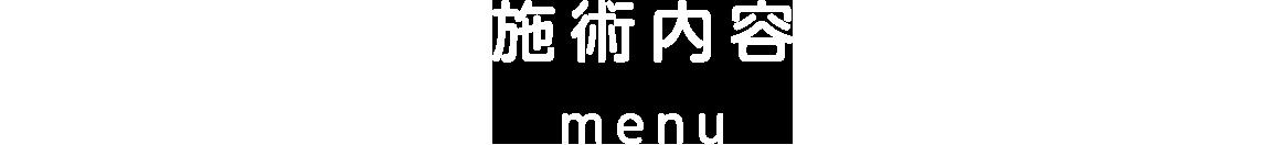 施術内容 menu
